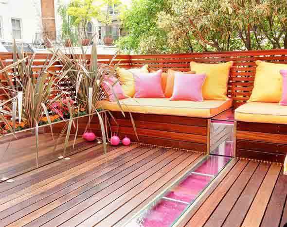 Maneiras para usar decks de madeira na decoração 018