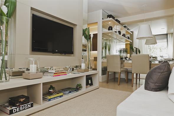 decoração para apartamento conjugado 016