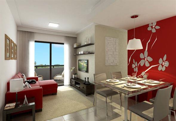 decoração para apartamento conjugado 017