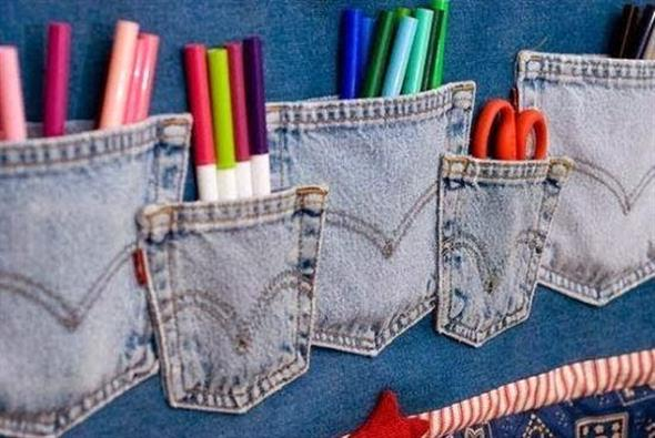 Painel organizador feito de jeans 002