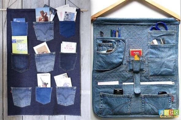 Painel organizador feito de jeans 003