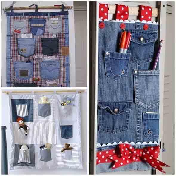 Painel organizador feito de jeans 015