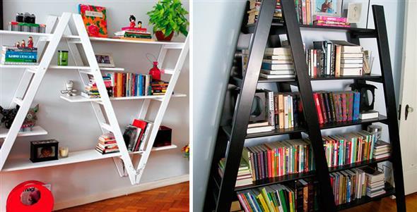 Prateleiras criativas para livros e revistas 011