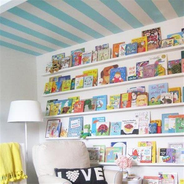 Prateleiras criativas para livros e revistas 012