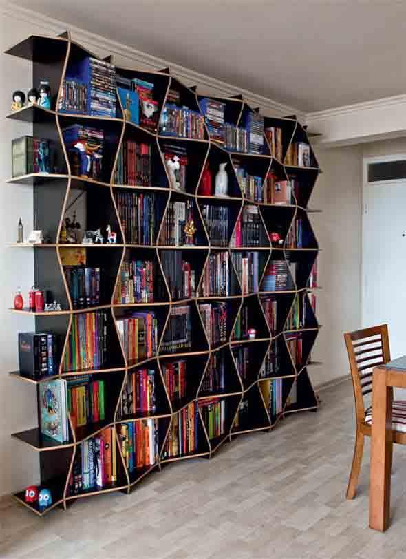 Prateleiras criativas para livros e revistas 015
