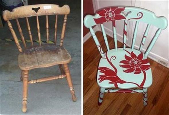 Renovar cadeiras velhas 007