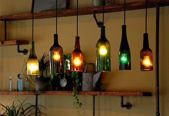 decoração com garrafas 003