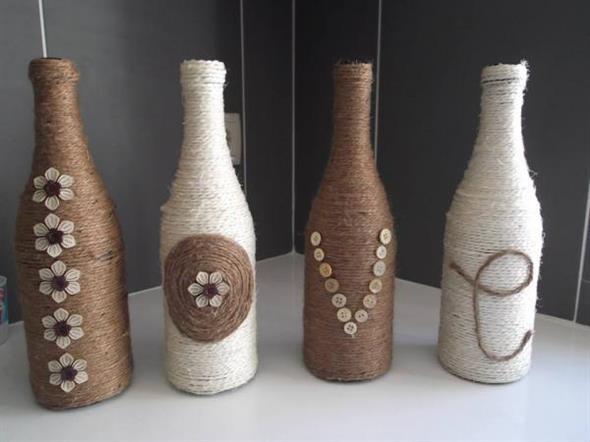 decoração com garrafas 017
