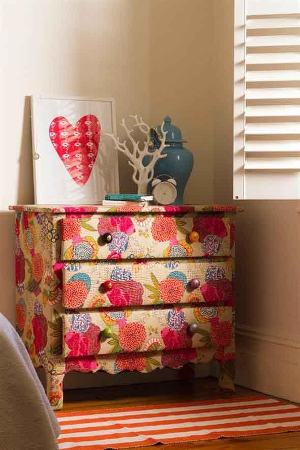 Forrar móveis com tecido 002