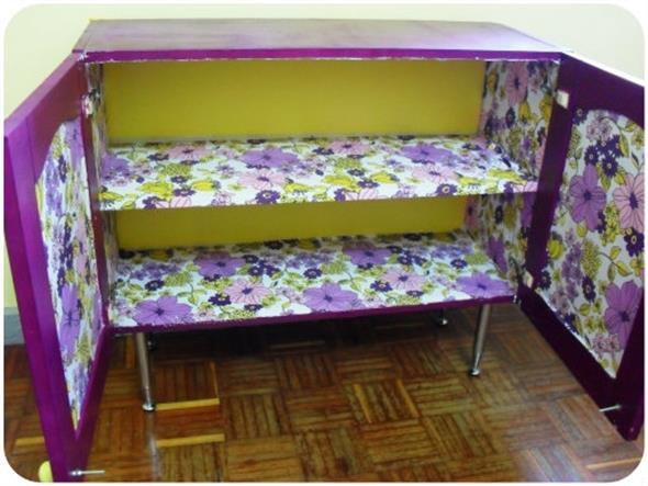 Forrar móveis com tecido 008