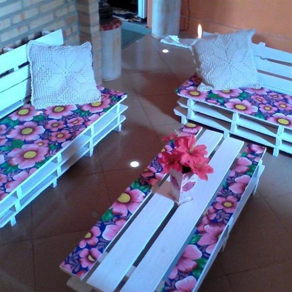 Forrar móveis com tecido 015