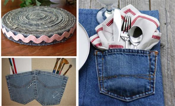 Ideias criativas para reaproveitar jeans usado 009