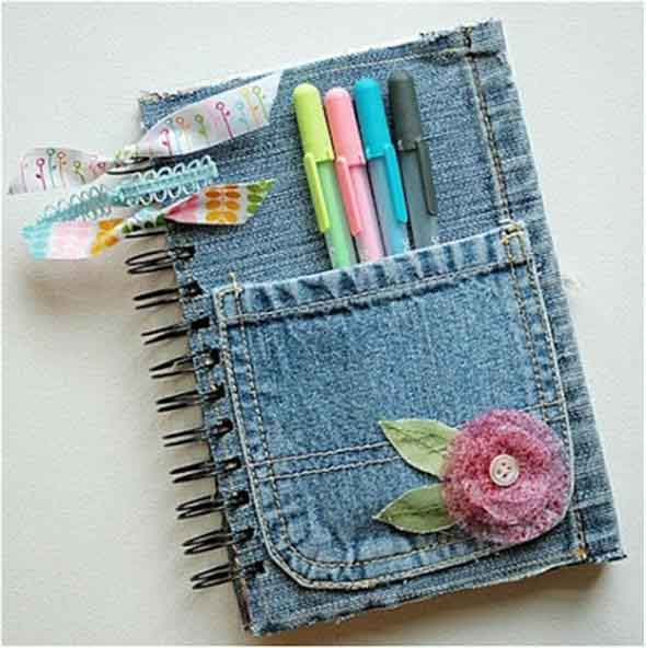 Ideias criativas para reaproveitar jeans usado 014