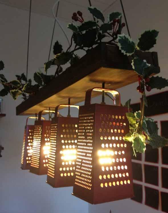 Luminária rústica artesanal 005