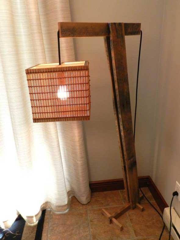 Luminária rústica artesanal 007