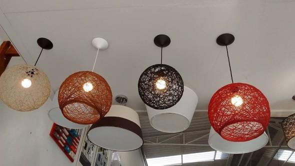 Luminária rústica artesanal 008