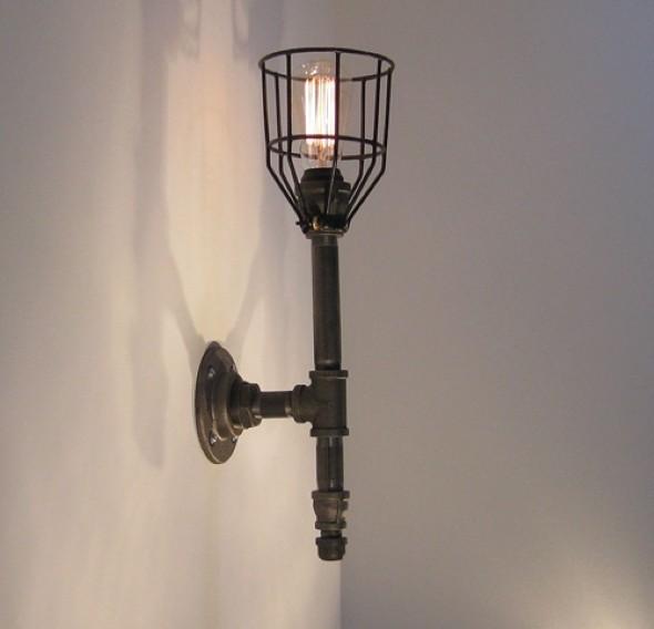Luminária rústica artesanal 011