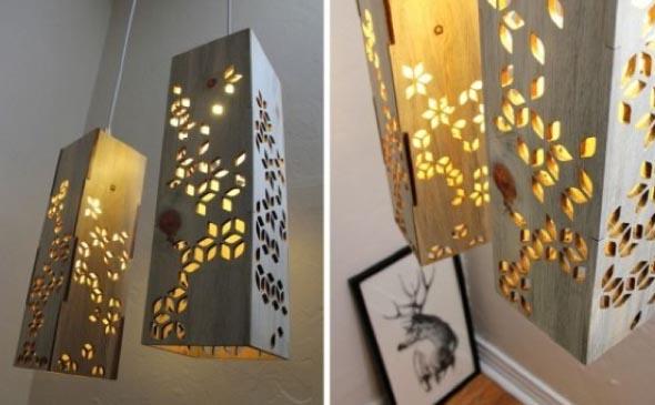 Luminária rústica artesanal 016