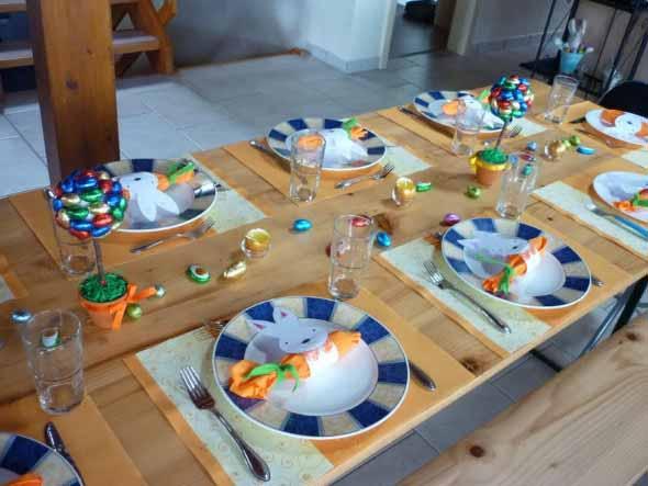 Decoração para almoço de Páscoa 015