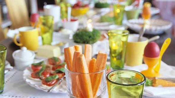 Decoração para almoço de Páscoa 017