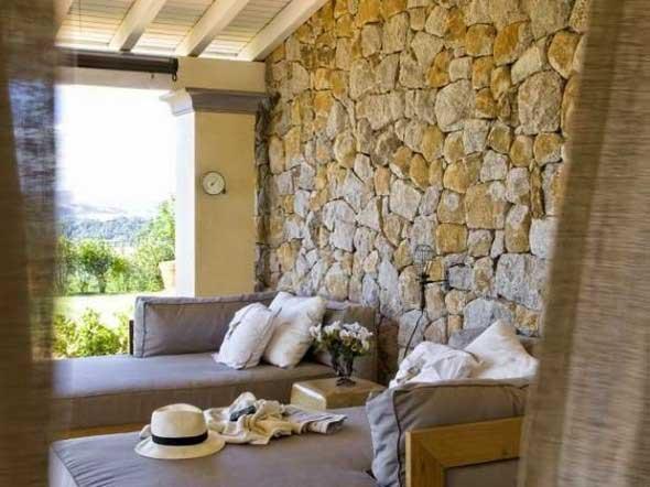Decorar um ambiente com parede de pedra 002