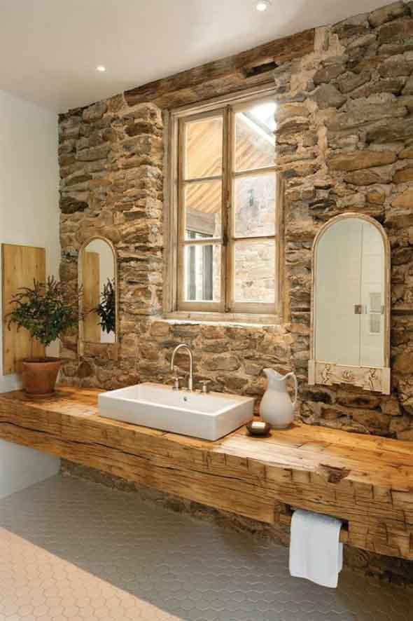 Decorar um ambiente com parede de pedra 010