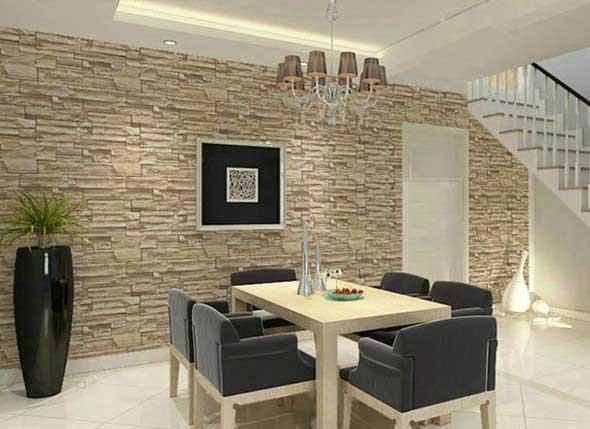 Decorar um ambiente com parede de pedra 011