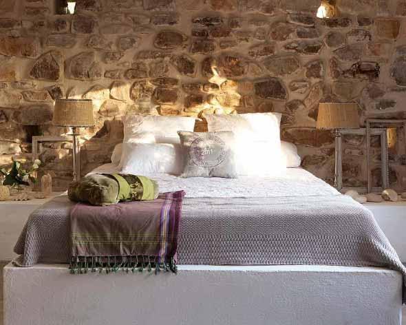 Decorar um ambiente com parede de pedra 013