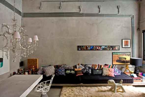 Decore a casa com canos de metal 012