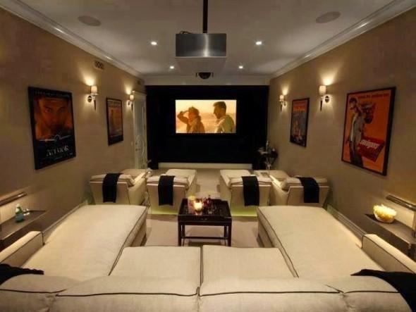 Espaço na casa para ver TV e assistir filmes 007