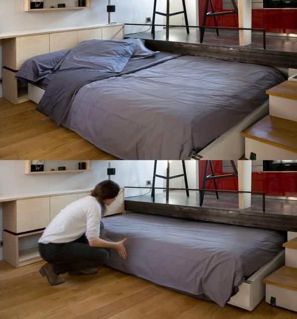 Modelos de cama escondida para casas e apartamentos 14 (Custom)