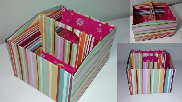 Caixa organizadora de papelão 002