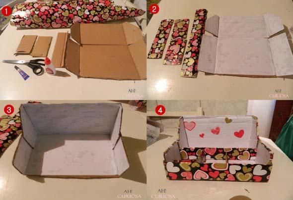 Caixa organizadora de papelão 015