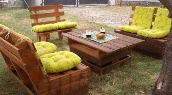 Ideias criativas para usar paletes no jardim de casa 009