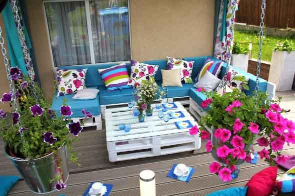 Ideias criativas para usar paletes no jardim de casa 012