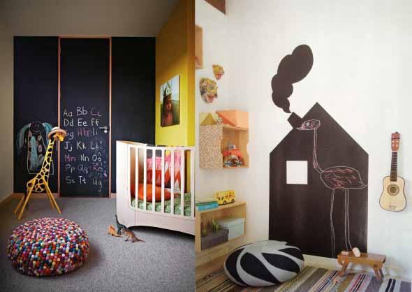 Monte uma parede lousa em sua casa 012