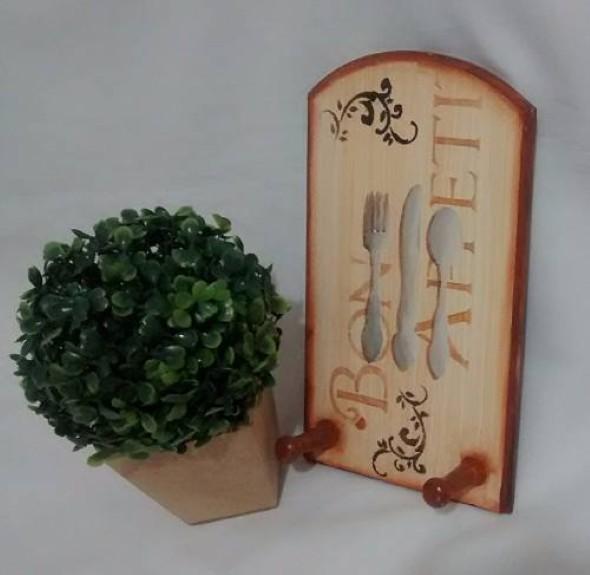 Porta panos de prato artesanal 014