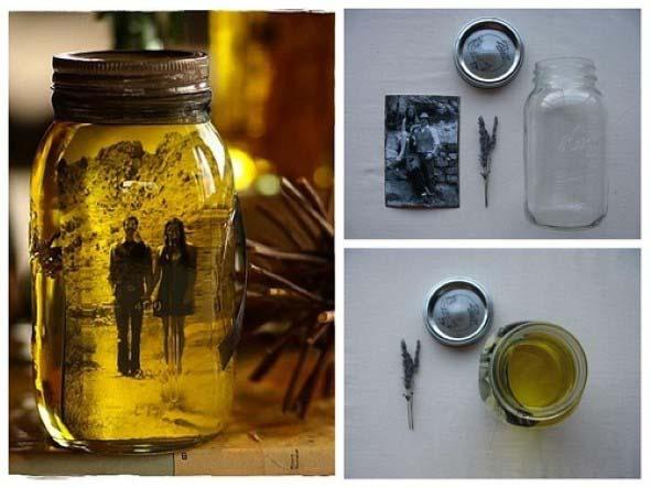Arte com vidros de conserva 008