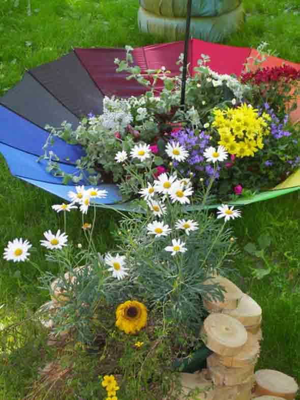 Guarda-chuvas na decoração 012