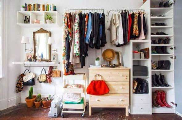 storage ideas for small bedrooms without closet guarda roupa aberto fa 231 a voc 234 mesmo seu closet 21160