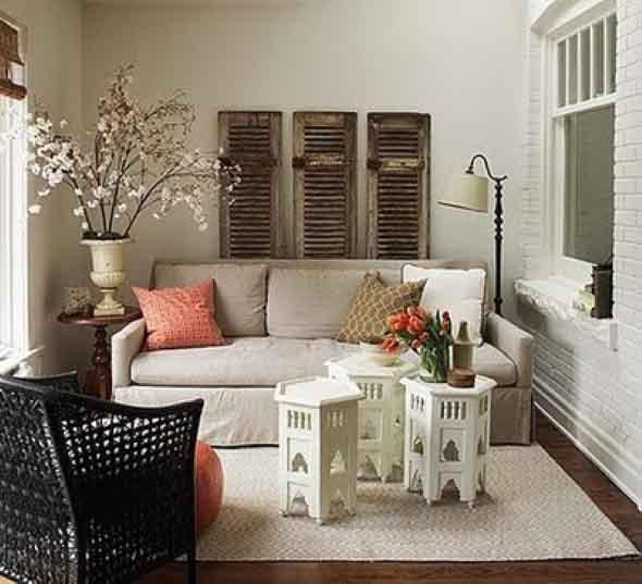 Ideias simples para decorar salas pequenas 005