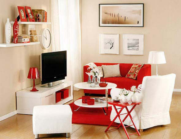Ideias simples para decorar salas pequenas 010