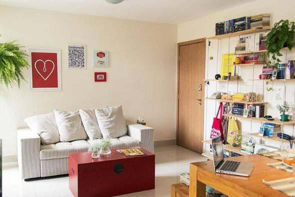 Ideias simples para decorar salas pequenas 012