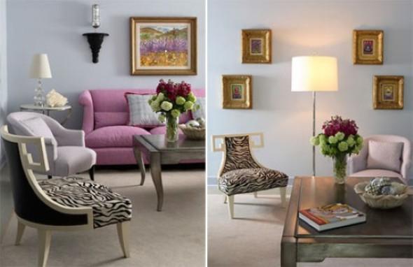 Ideias simples para decorar salas pequenas 017