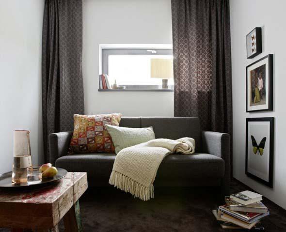 Ideias simples para decorar salas pequenas 019