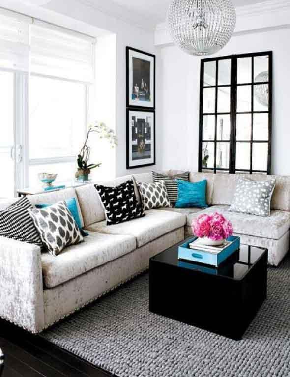 Ideias simples para decorar salas pequenas 022