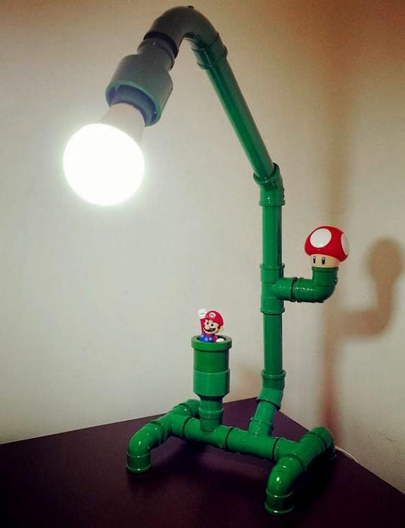 Luminária de material reciclado 003