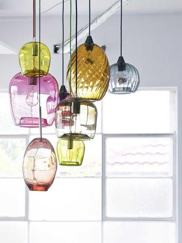 Luminária de material reciclado 008