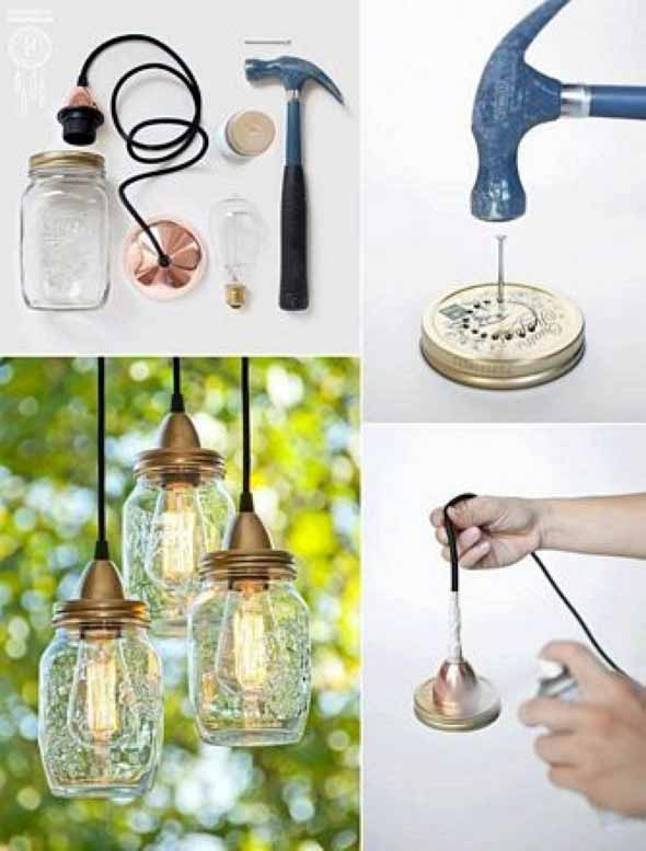 Luminária de material reciclado 009