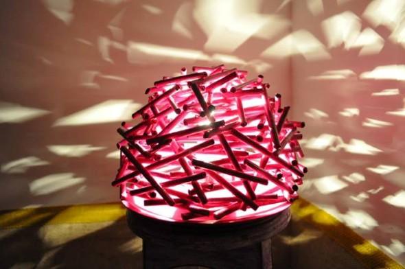 Luminária de material reciclado 015